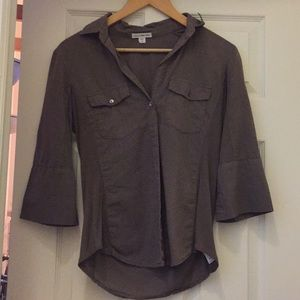 James Perse khaki/brown button down size 2